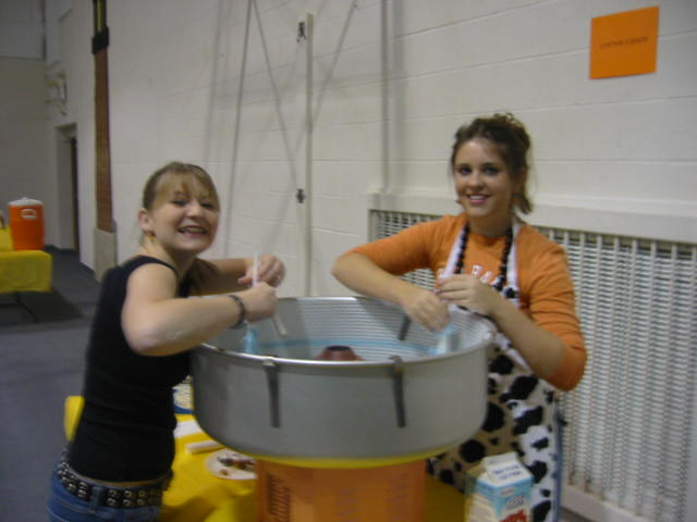 Lovely Daughter and Friend making cotton candy