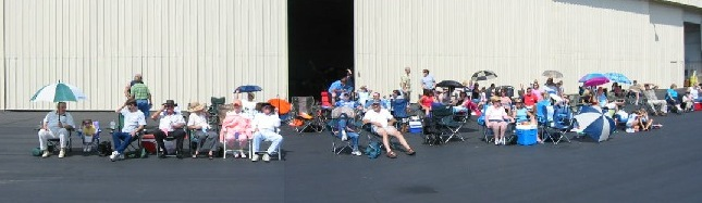 The gang from church enjoying the airshow
