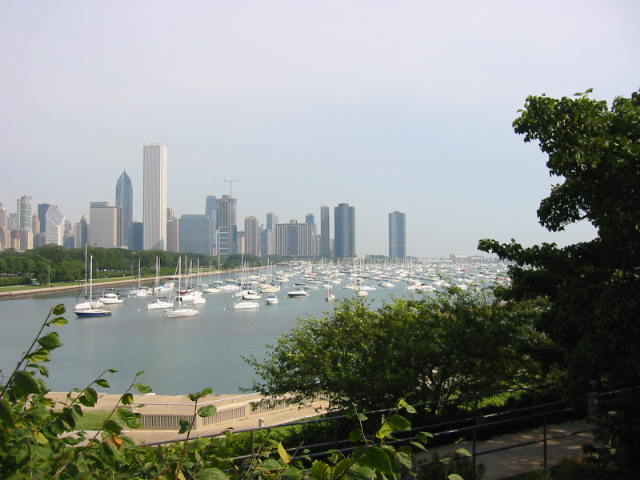 A view of the waterfront from the Shedd Aquarium