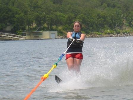 Lovely Daughter on the Slalom