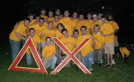 Rush Week at Delta Chi--that's B.H. front row, right