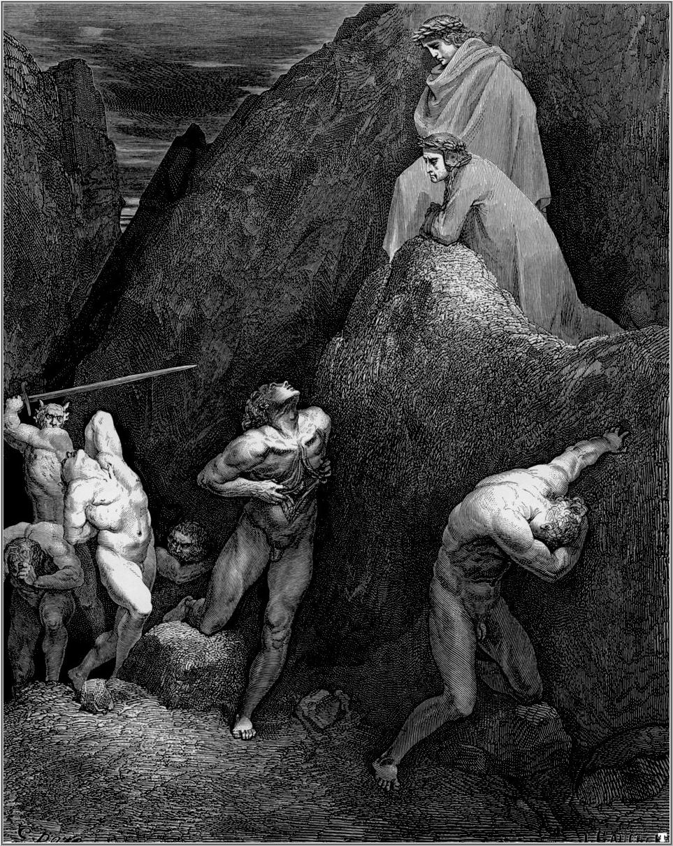 Gustave Dore's depiction of Mohammed in the Eighth Circle of Hell