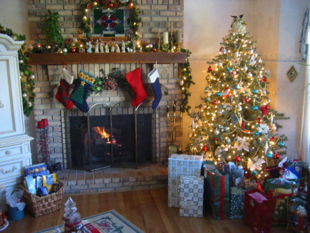 Hearth and Home on Christmas Morning